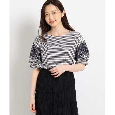 SunaUna(スーナウーナ) マニカジャージ 袖刺繍カットソー
