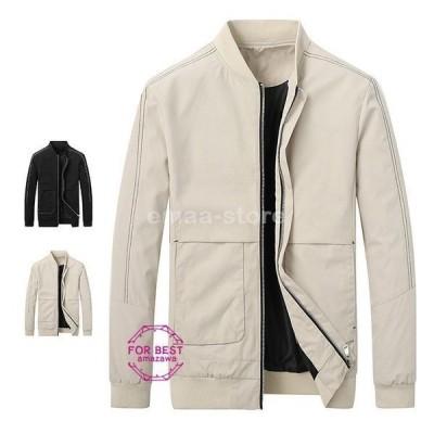 ミリタリージャケット メンズ ジャケット ブルゾン 立ち襟 防風 大きいサイズ 秋物 秋服