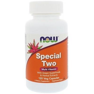 スペシャルツー、マルチビタミン、植物性カプセル120粒