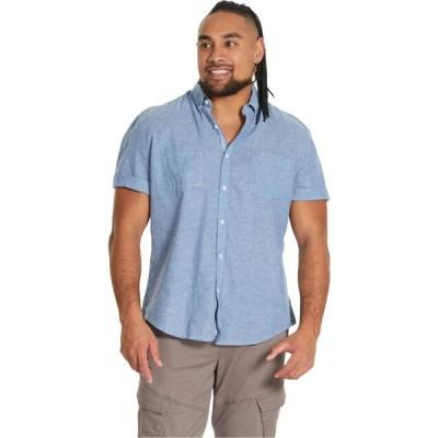 ジョニー ビッグ Johnny Bigg メンズ トップス 大きいサイズ Big & Tall Tahiti Linen Shirt Denim