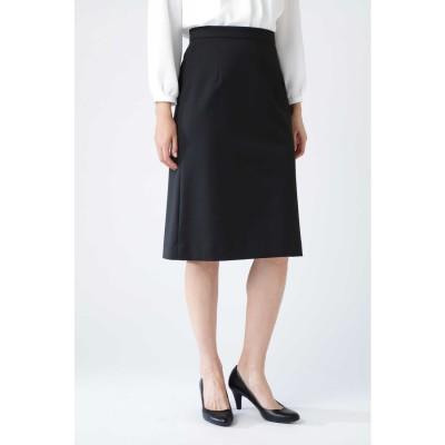 [ウォッシャブル]TRストレッチツイルウォッシャブルスカート ブラック