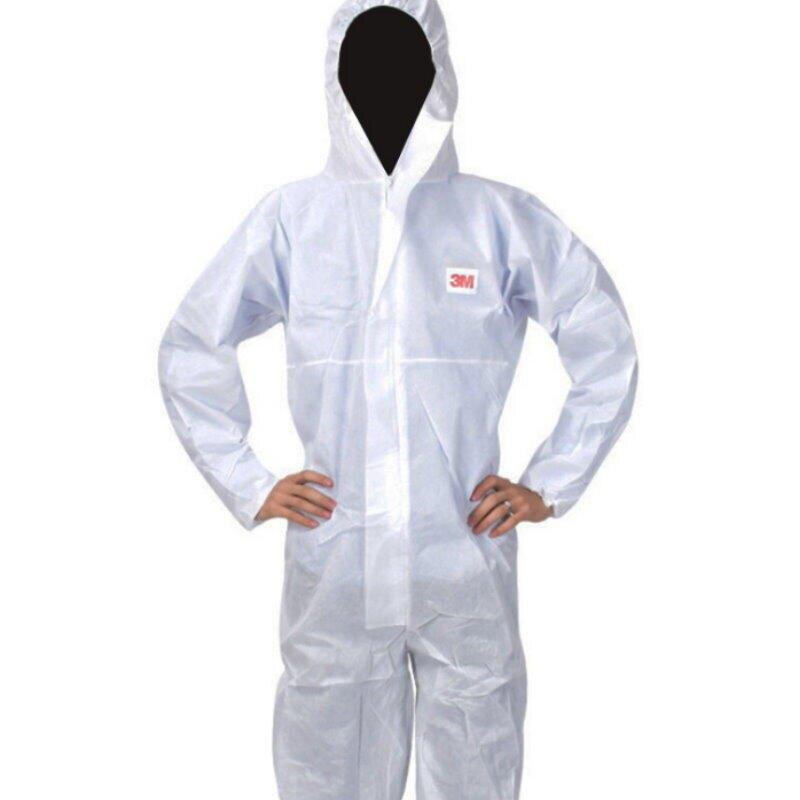 3M防護衣4515白色帶帽連體 防護服 實驗室防塵服 防護衣服 一次性工作服 隔離衣【GC142】 123便利屋