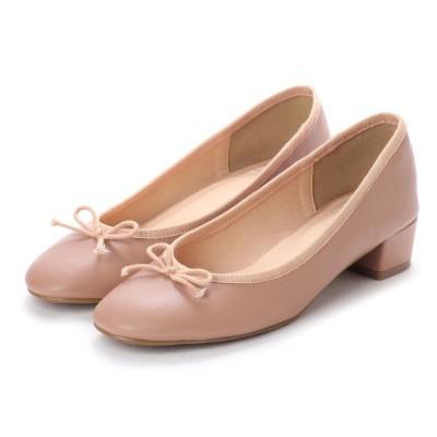エンチャンテッド enchanted ラウンドリボン太ヒールパンプス (ピンク)