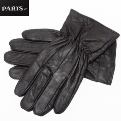◆手袋◆PARIS16e 羊革/シープスキン チョコ茶 メンズ グローブ メール便可 LAM-N03-BR