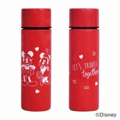 Disney(ディズニー) ミニボトル(ステンレスボトル) 110ml ミッキー&ミニー RD・レッド D-MF56 52316