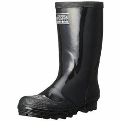 [キタ] メガセーフティ 安全長靴 ゴム製 軽半タイプ KR-9010 ブラック(ブラック/27.0)