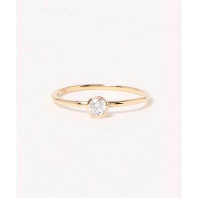 指輪 【ブリラ】K18ベゼルリング