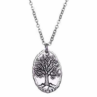 VASSAGO 3D Engraved Vintage Nordic Myth Tree of Life Yggdrasil World Tree Pendant Viking Amulet Necklace