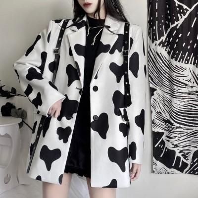 牛柄 ビッグ ジャケット