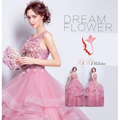 即納♪ 上品 高級感 ピンク 結婚式 披露宴 刺繍/ プリンセスライン/ミニドレス/二次会/パーティードレス/ビスチェウエディ