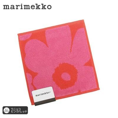 【送料無料】マリメッコ ミニタオル ウニッコ 25×25cm ピンク×レッド marimekko UNIKKO コットン【正規輸入品】【ギフト】【プレゼント】