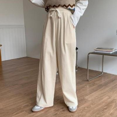 ENVYLOOK レディース パンツ Custard Wide Golden Pants