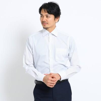 タケオ キクチ TAKEO KIKUCHI カラーストライプ ビジネスシャツ (チャコールグレー)