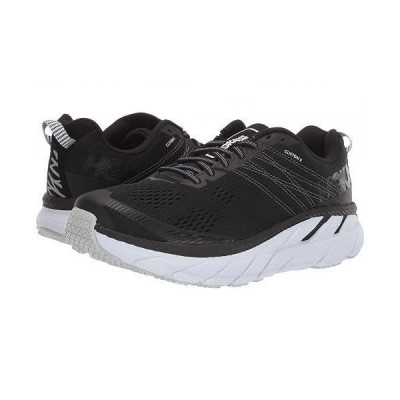 Hoka One One ホカオネオネ レディース 女性用 シューズ 靴 スニーカー 運動靴 Clifton 6 - Black/White