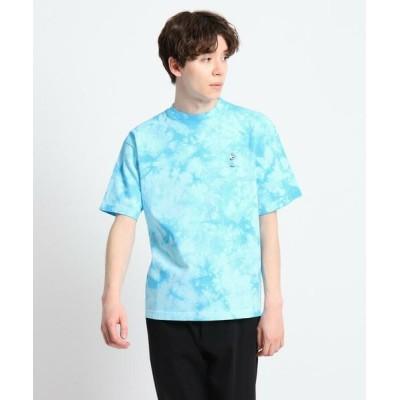 Dessin/デッサン 強撚天竺 タイダイプリント刺繍Tシャツ ブルー(092) 02(M)