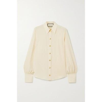 グッチ Gucci レディース ブラウス・シャツ トップス Silk crepe de chine shirt