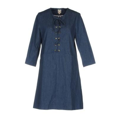 イネス・ド・ラ・フレサンジュ INES DE LA FRESSANGE ミニワンピース&ドレス ブルー 38 コットン 100% ミニワンピース&ド