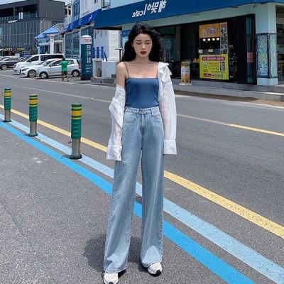 ジーンズ ボトムス レディース ワイド ゆったり ダメージ 10代 20代 高校生 中学生 韓国 ファッション ダンス 衣装 ジーパン パンツ 4691