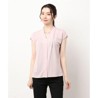 tシャツ Tシャツ メタルチョーカー付きスムーストップス