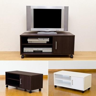 テレビ台 キャスターつき 扉つき 収納スペース 定番 シンプル 収納 TV台 テレビボード ローボード