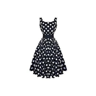 ハーツアンドローズロンドン ドレス ワンピース ハートs and ローズs London ブラック ホワイト Polka Dot ビンテージ 50s パーティ Prom ドレス