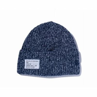 ニューエラ NEW ERA ミリタリーニット パッチ ヘザー ネイビー/アイボリー ニットキャップ 帽子 日本正規品