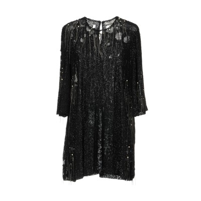 .AMEN. ミニワンピース&ドレス ブラック 40 ナイロン 100% / ポリ塩化ビニル / ガラス / 金属 ミニワンピース&ドレス