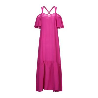 MIKI THUMB ロングワンピース&ドレス フューシャ M シルク 100% ロングワンピース&ドレス