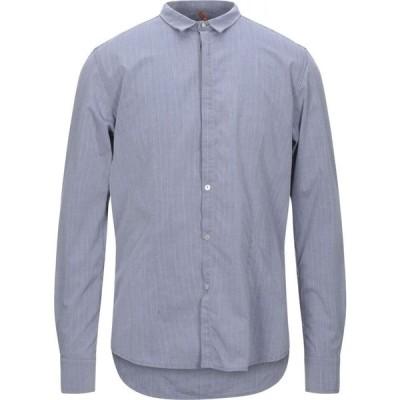 ベルナ BERNA メンズ シャツ トップス Solid Color Shirt Slate blue