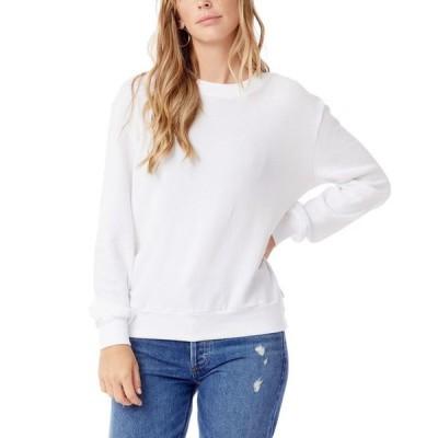 オルタナティヴ アパレル レディース シャツ トップス Women's Throwback Washed French Terry Sweatshirt