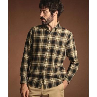 MACKINTOSH LONDON(MENS)/マッキントッシュ ロンドン  メンズ オンブレーチェックシャツ ブラウン2 LL
