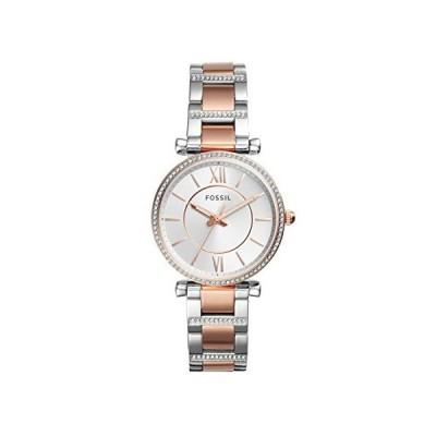 腕時計 フォッシル レディース ES4342 Fossil Women's Carlie Quartz Watch with Stainless-Steel Strap