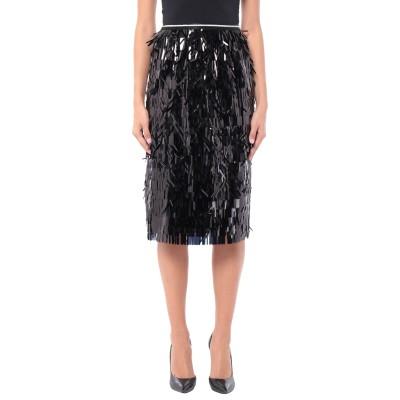 TPN ひざ丈スカート ブラック M ポリエステル 100% ひざ丈スカート