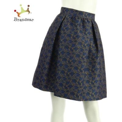 イントレンド(マックスマーラアウトレット) スカート サイズS レディース 新品未使用 ネイビー系  スペシャル特価 20200613