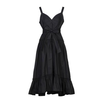 プロエンザスクーラー PROENZA SCHOULER 7分丈ワンピース・ドレス ブラック 8 コットン 100% 7分丈ワンピース・ドレス
