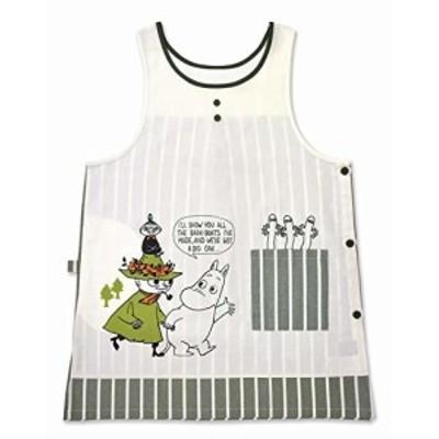 セントレディス MOOMIN ムーミン エプロン ストライプ カーキ ST-IM0047 ユニセックス:身巾57cm・身丈88cm(メンズs~lサイズ、レディスm~l