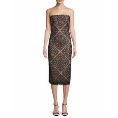 タダシショウジ レディース ワンピース Strapless Lace Midi Dress
