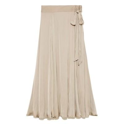 【ミラオーウェン/Mila Owen】 サテンマキシ丈巻きスカート