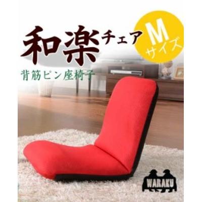 座椅子 ザイス 布張り スマートシンプル リクライニング 和楽 フロアチェア Mタイプ A454 送料無料