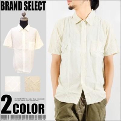 (ネコポス送料無料)同色グラフチェック 半袖 シャツ 格子柄 綿シャツ 無地 綿素材 メンズ カジュアル サロン  wsh-5442