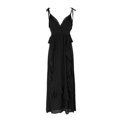 TWENTY EASY by KAOS 7分丈ワンピース・ドレス ブラック 42 ポリエステル 100% 7分丈ワンピース・ドレス
