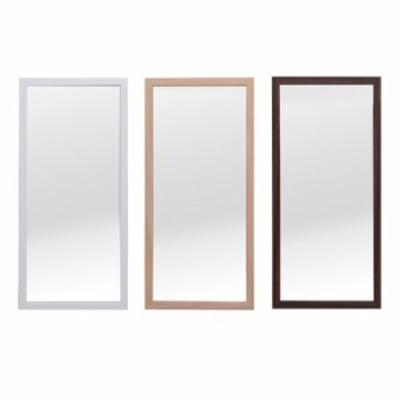 軽量壁掛けウォールミラー 60cm/鏡/ミラー/北欧風/ナチュラル/飛散防止/木目/シンプル/完成品 || 家具 ドレッサー