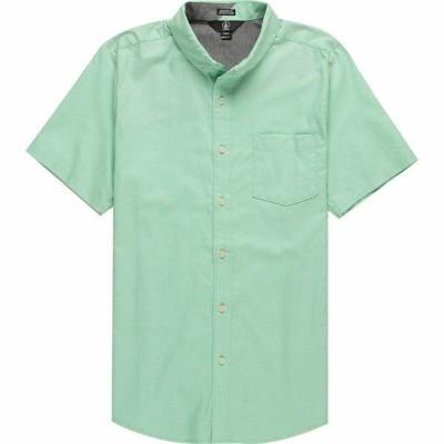 ボルコム シャツ メンズ トップス Everett Oxford Short-Sleeve Shirt - Men's Biscay Green