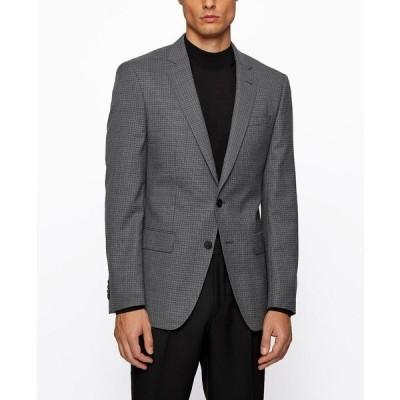 ヒューゴボス ジャケット&ブルゾン アウター メンズ BOSS Men's Huge Slim-Fit Jacket Open Grey