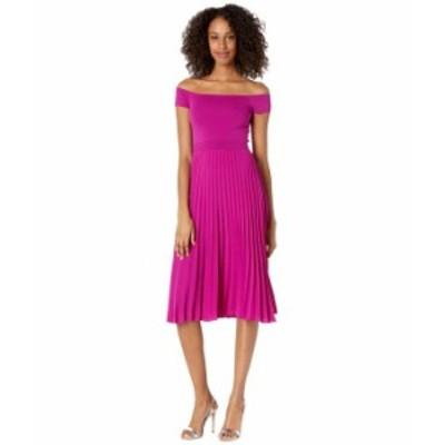 テッドベーカー レディース ワンピース トップス Knitted Bodice Bardot Dress Deep Pink