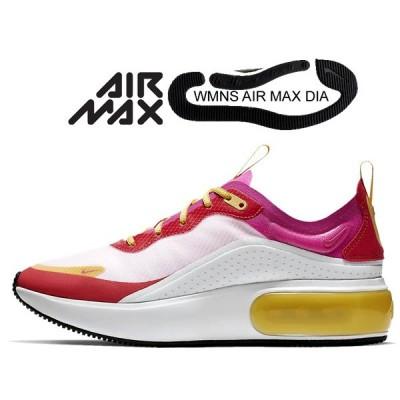 ナイキ ウィメンズ エアマックス ディア SE NIKE WMNS AIR MAX DIA SE white/laser fuchsia-ember glow ar7410-102 レディース スニーカー エア マックス 厚底