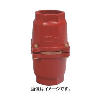 大阪継手バルブ製作所:フートバルブ 鋳鉄要部砲金 捻込型中間 型式:FC3733BC40(TV-239-40)