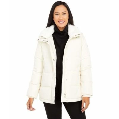 ラルフローレン コート アウター レディース Boxy Puffer Coat w/ Faux Fur Collar Moda Cream