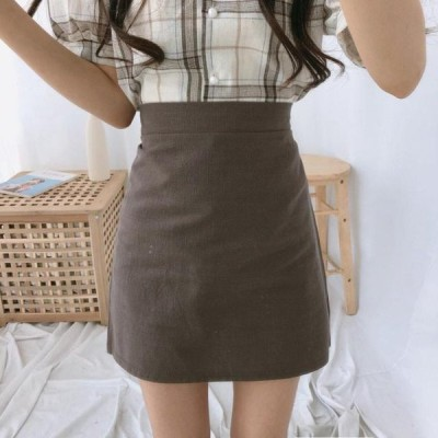 レディース スカート Linen basic skirt