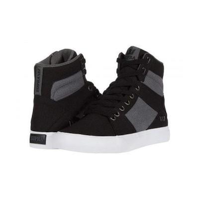 Supra スープラ メンズ 男性用 シューズ 靴 スニーカー 運動靴 Aluminum - Black/Dark Grey/White